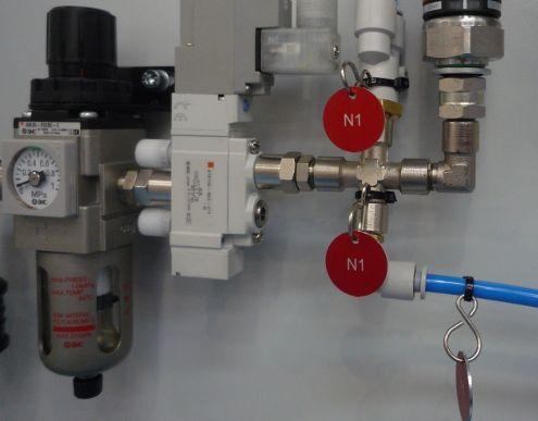 Señalización de grupos hidráulicos