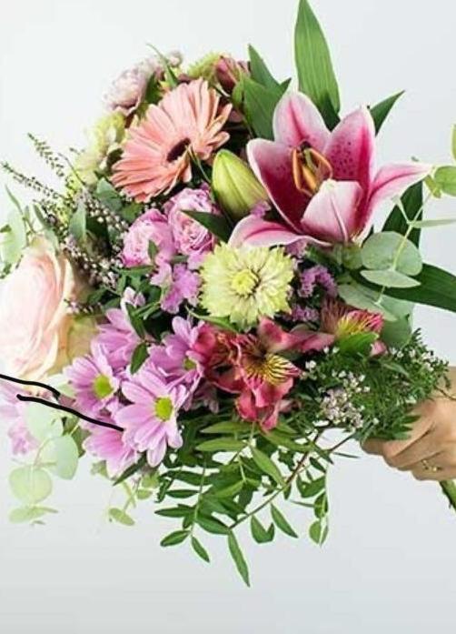 Ramo de flores variadas 35€ Desplazamiento incluido