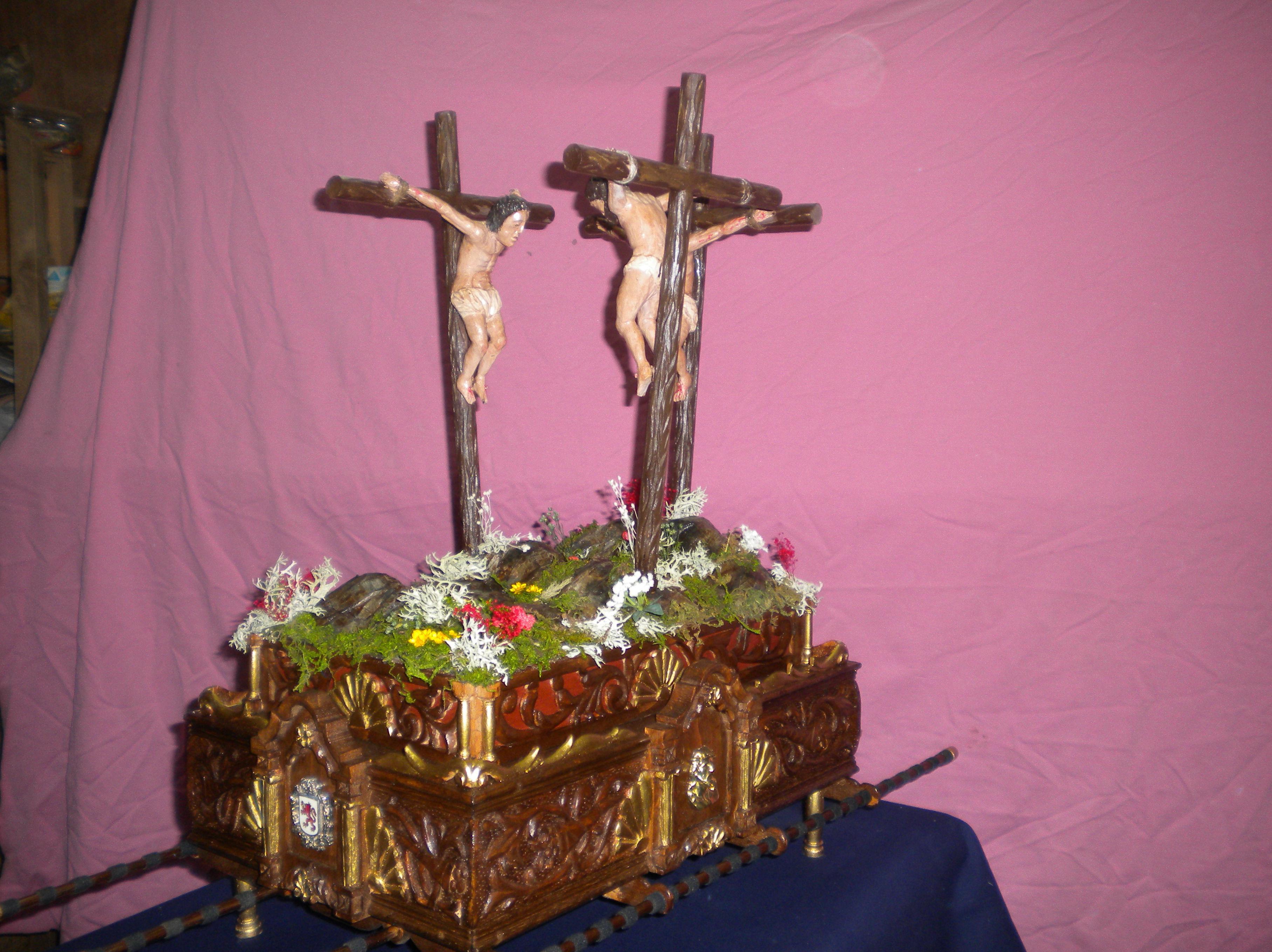 trono la segunda palabra  cristo con los dos ladrones