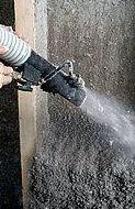 Proyectado de celulosa en pared