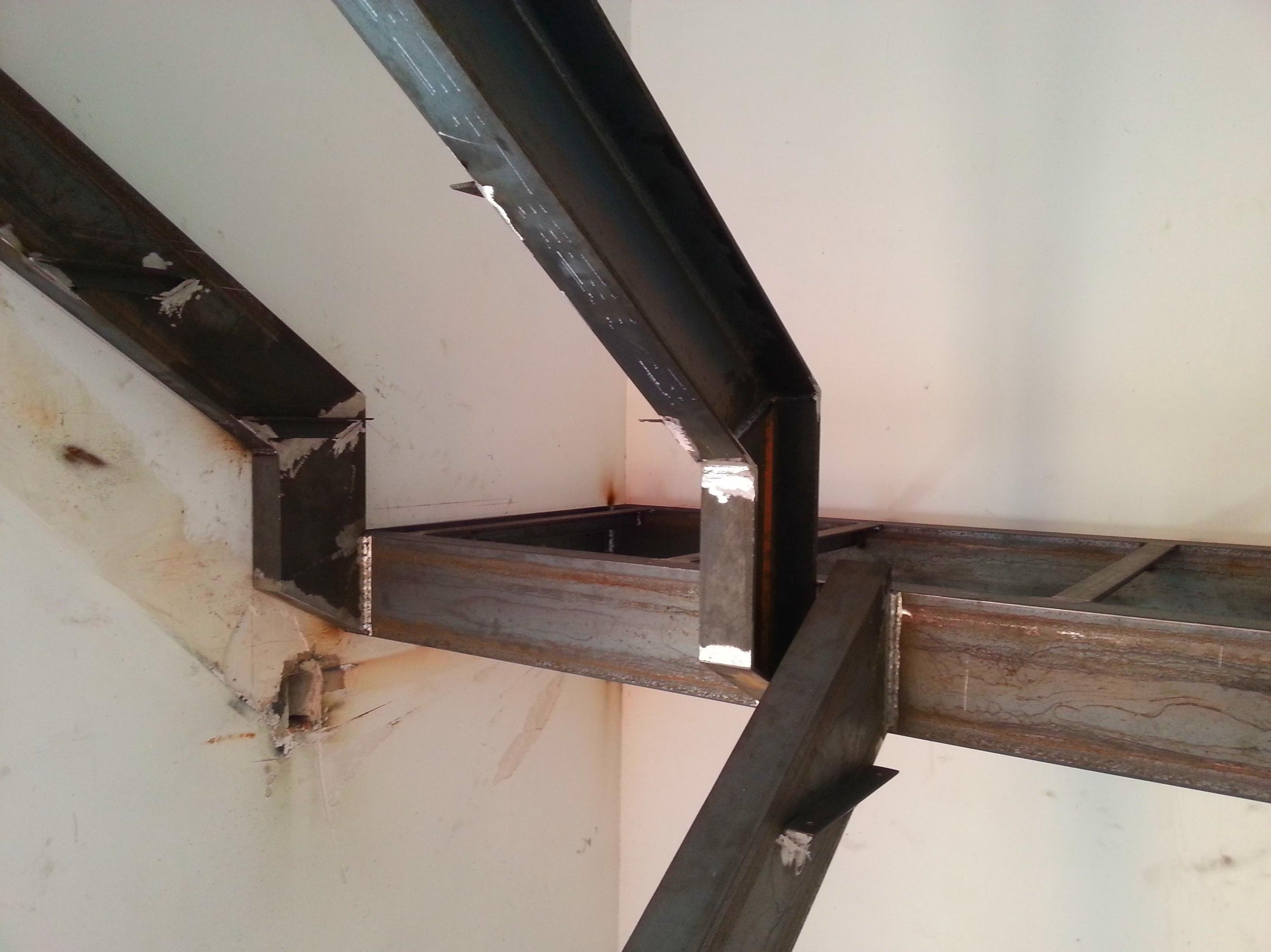Forja Pérez. Estructura para una escalera.