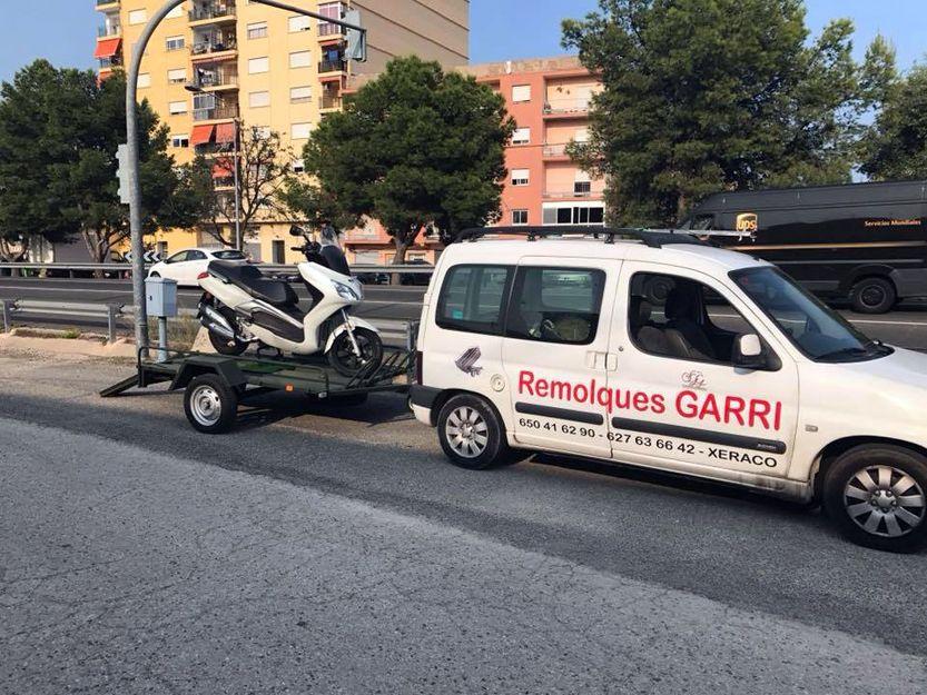 Remolques para motos en Valencia
