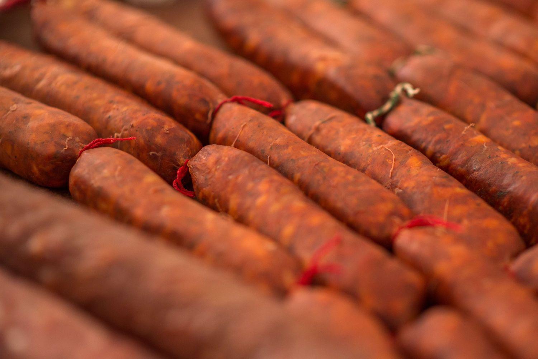 Chorizo artesano en La Carolina