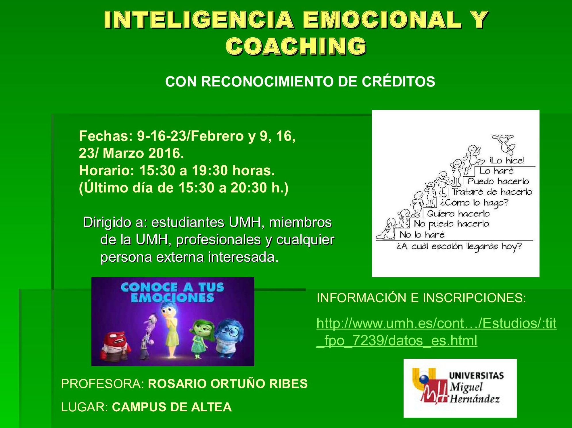 Inteligencia Emocional y Coaching }}