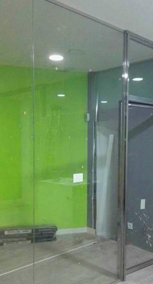 Paneles de cristal y aluminio de pared de oficina