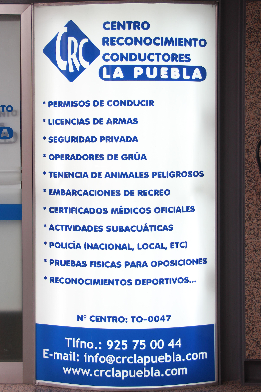 Reconocimientos y psicotécnicos en La Puebla de Montalbán