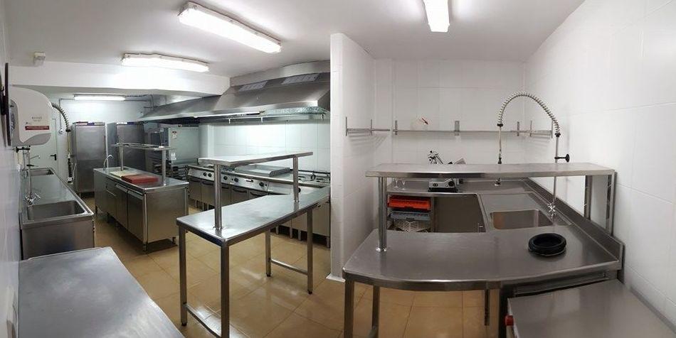 Limpieza de cocina de restaurante