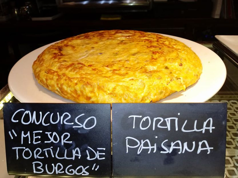 Tortilla presentada al concurso de tortillas de Burgos