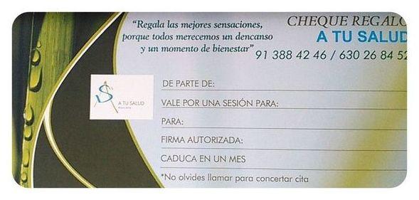 Regala salud, cheques regalo