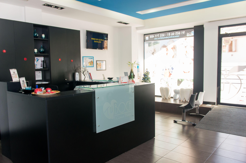 Recepción de la clínica en Numancia de la Sagra