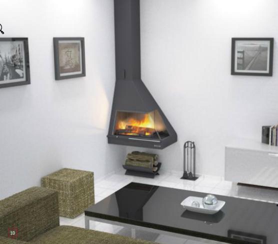 Foto 17 de chimeneas y estufas en collado villalba - Chimenea en esquina ...