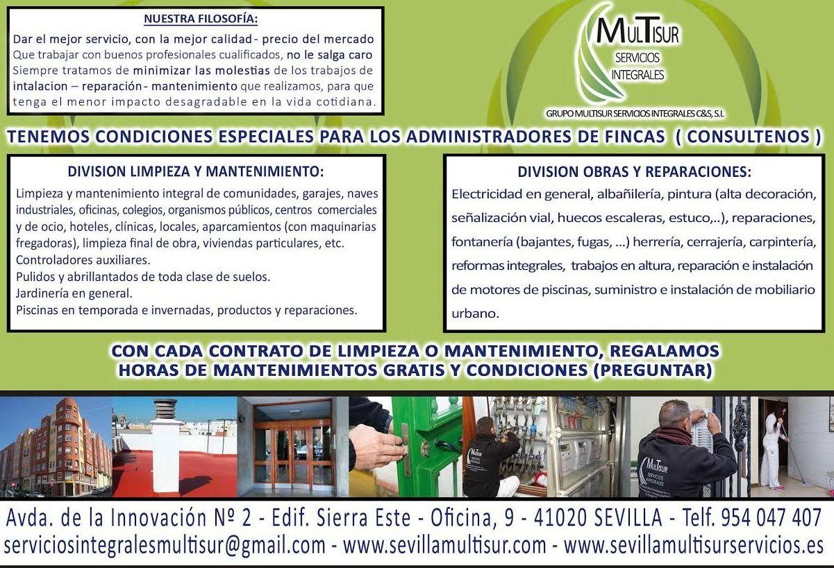 Foto 31 de Mantenimiento Edificios en Sevilla | Grupo Multisur Servicios Integrales C & S