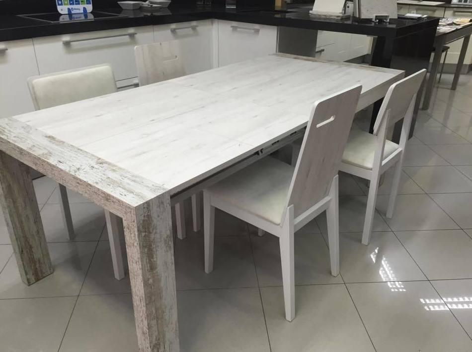 Mesas y sillas en melamina catalogo de cahema hogar for Mesa con sillas dentro