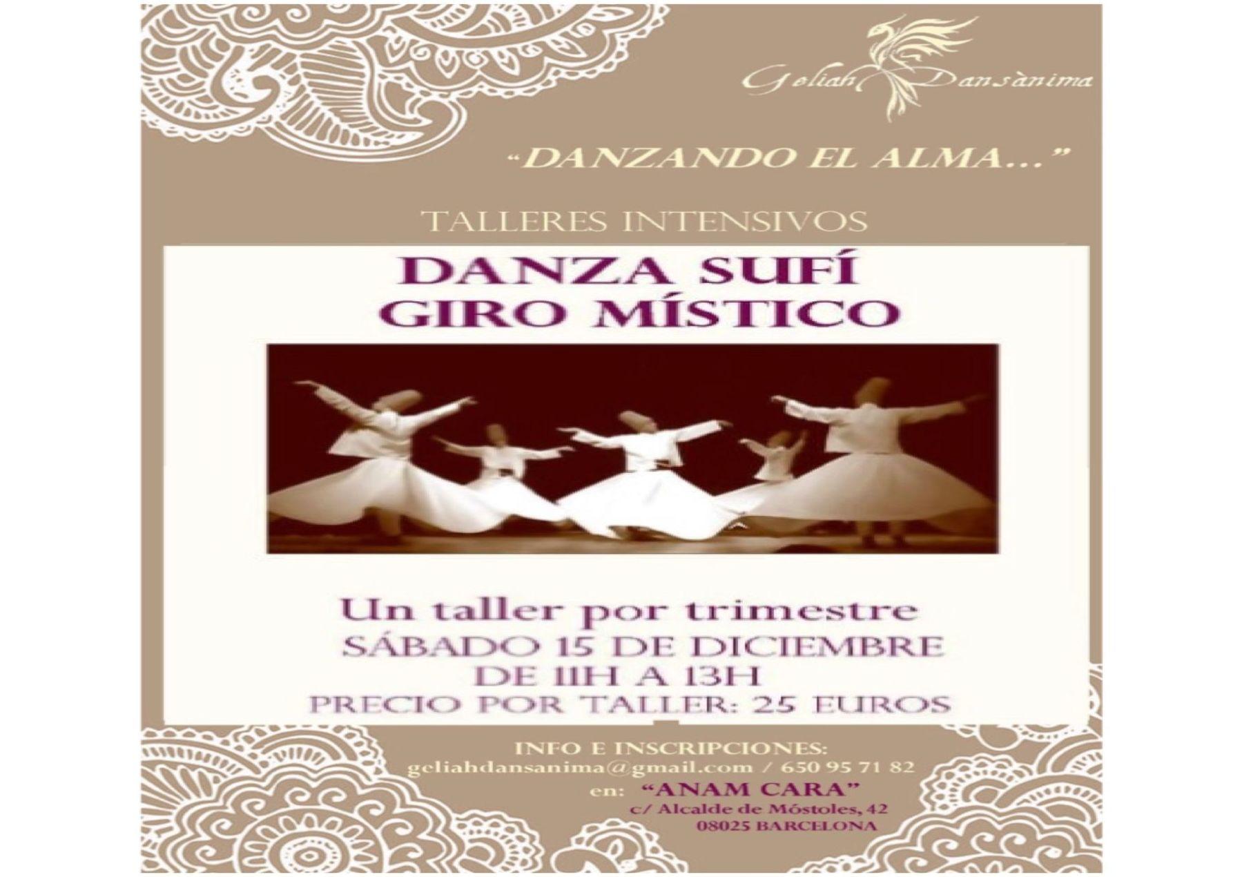 Danza Sufí, Giro Místico, sábado 15 de diciembre de 11h a 13h