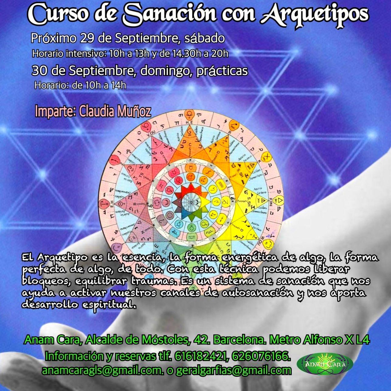 Curso Sanación con Arquetipos próximo 29/09