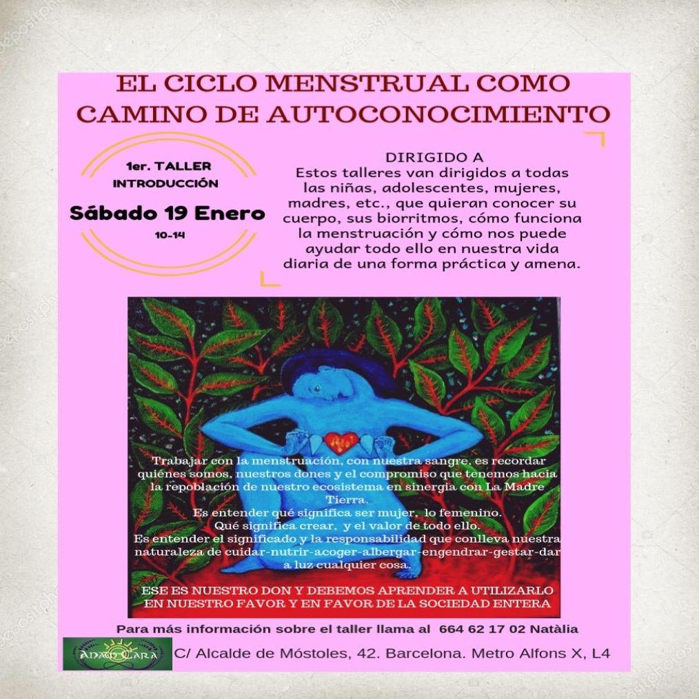 Taller : El ciclo menstrual como camino de autoconocimiento. Sábado 19 de enero de 10h a 14h