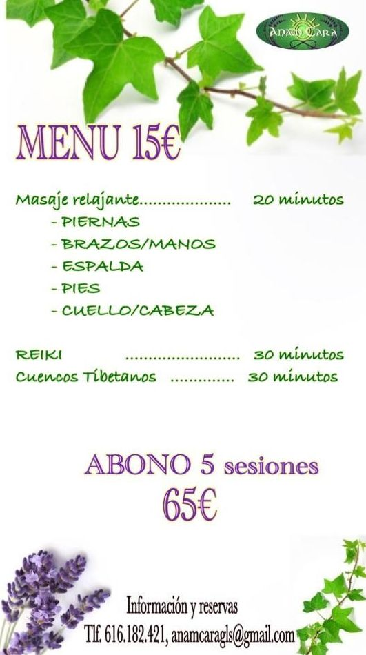 Oferta Menú 15€