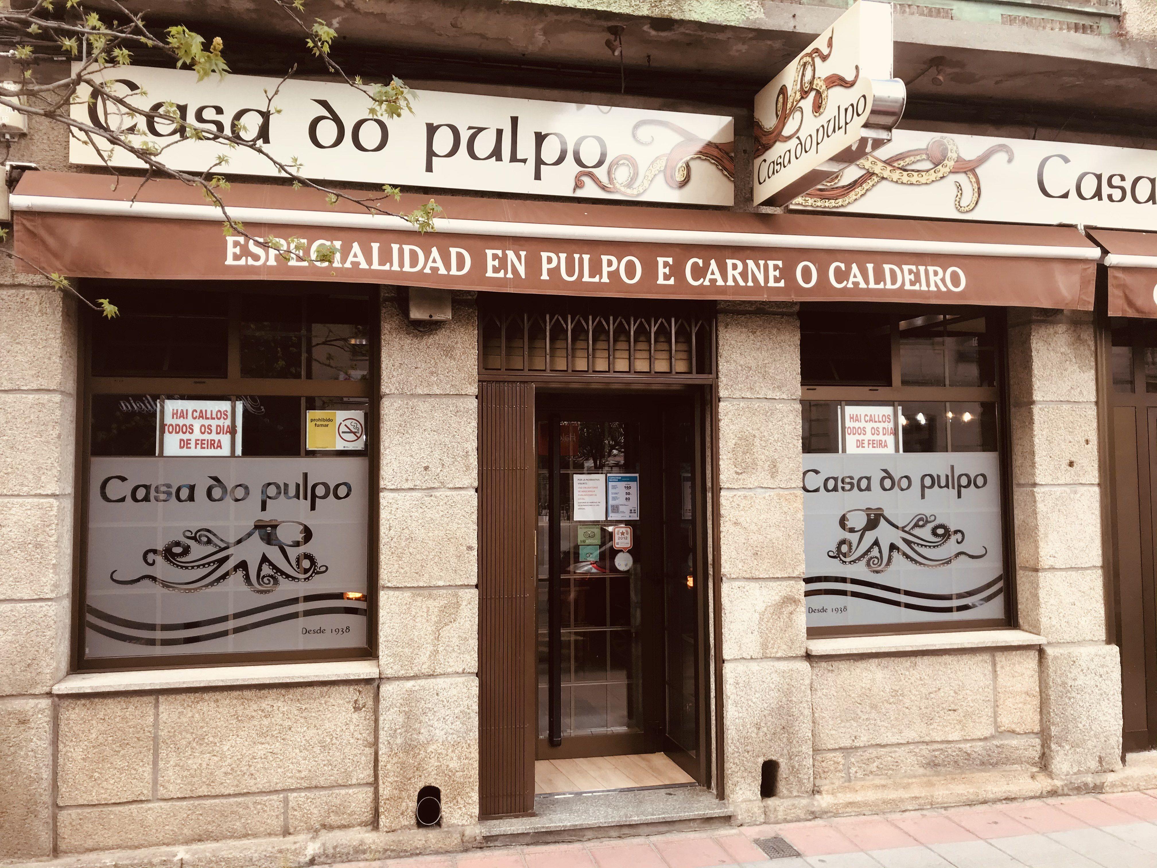 Pulpo a feira en Verin, Ourense
