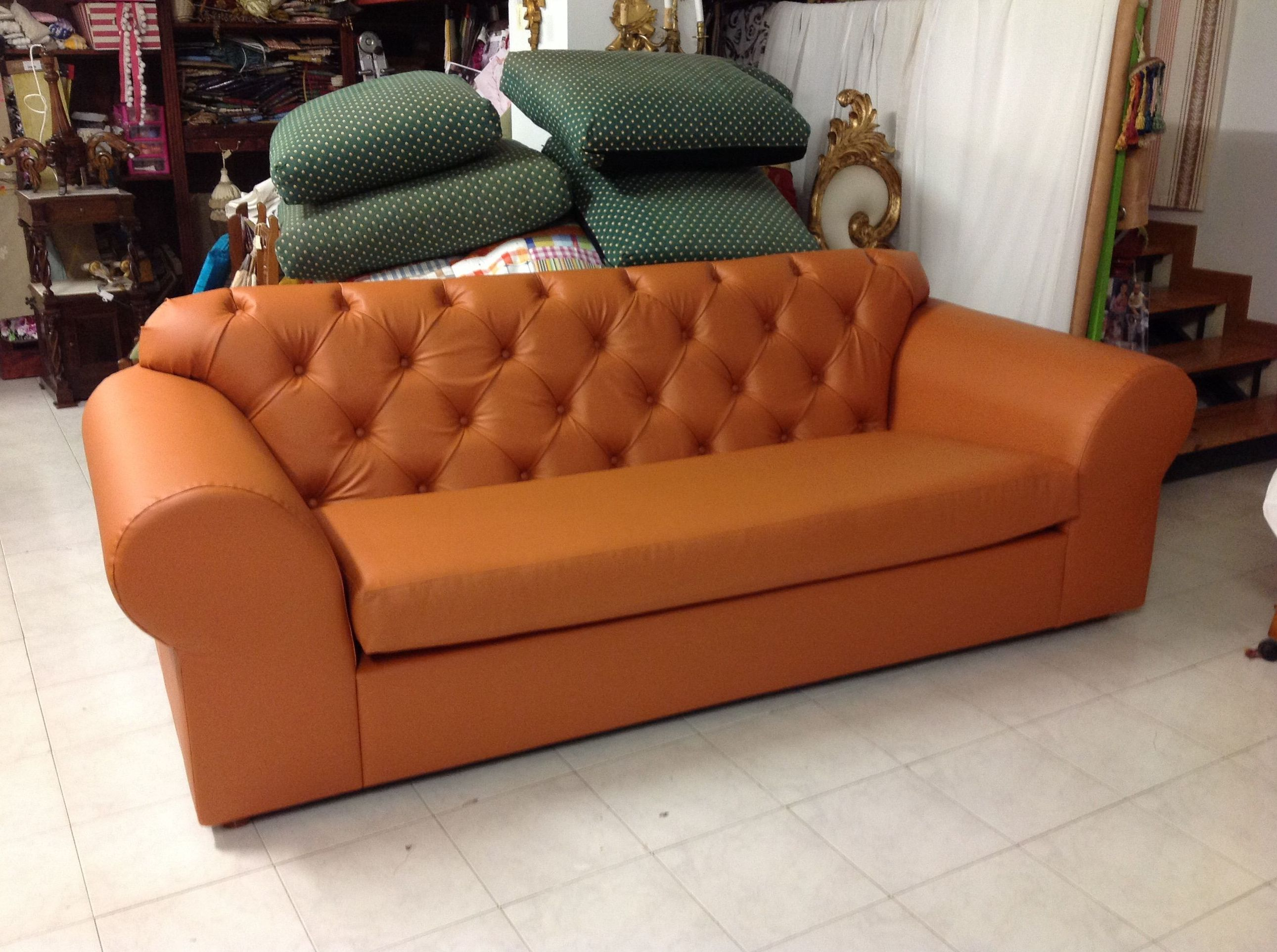 Recuperación de sofa dandole un toque con el capitone