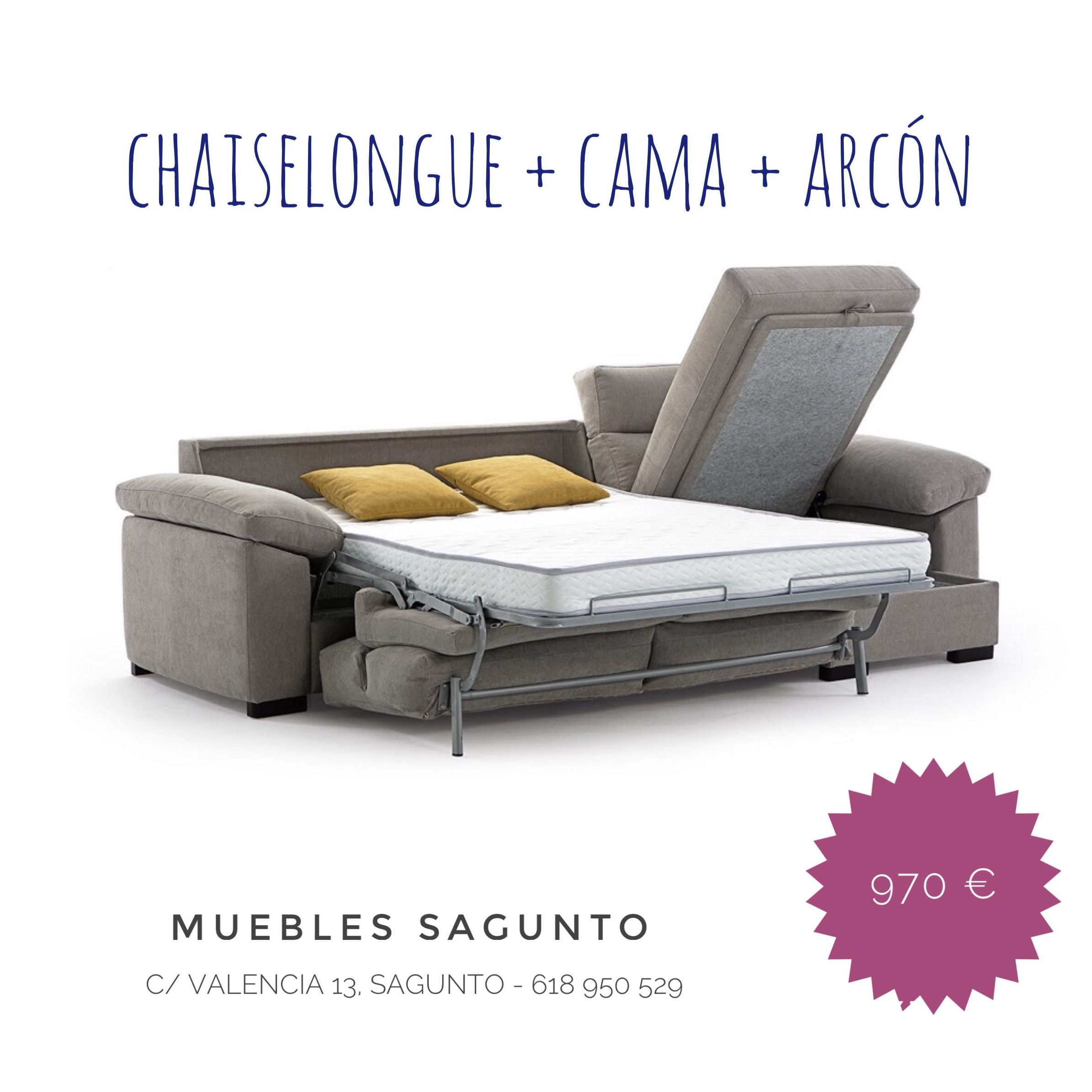 Chaiselongue con Cama Eco