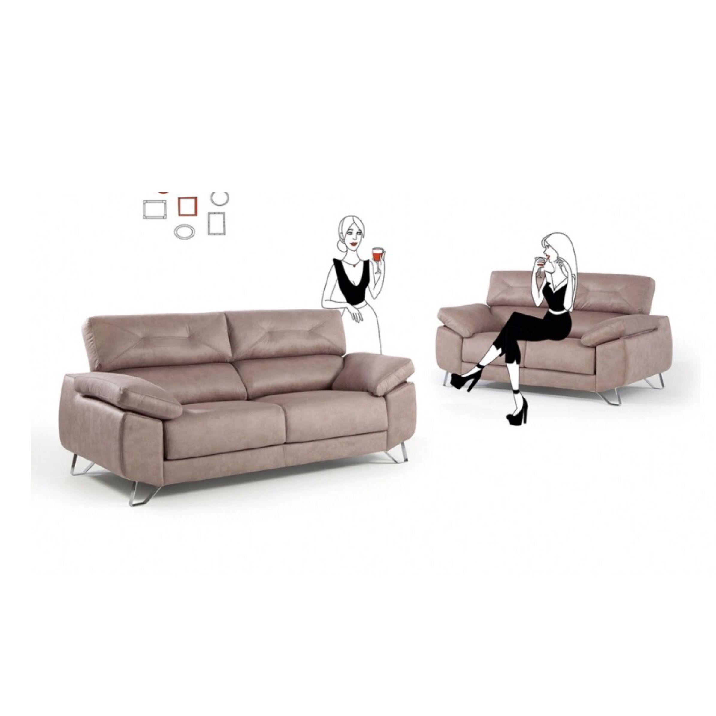 Sofá 3 + 2 con Viscoelástica en el asiento