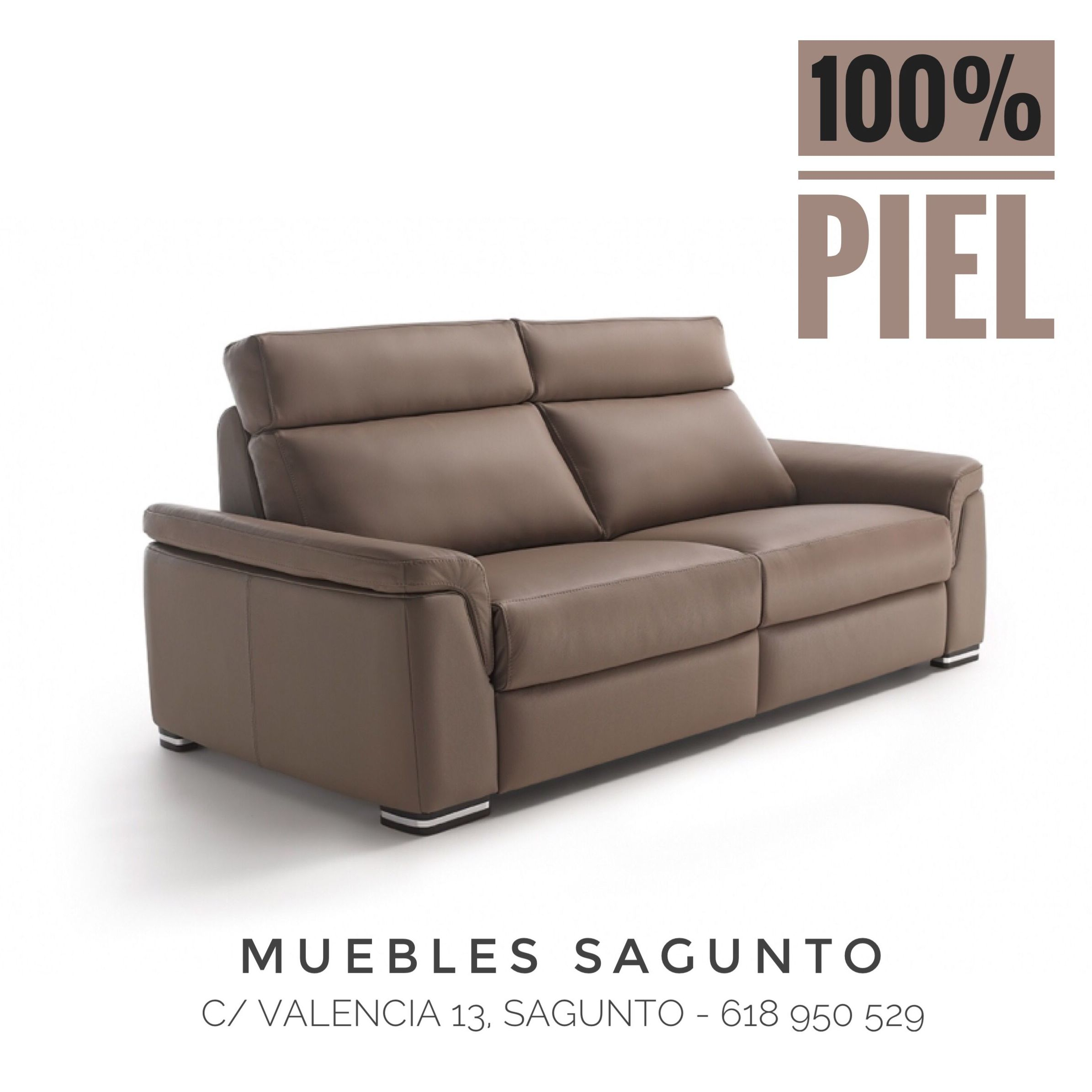Sofás de Piel en Muebles Sagunto