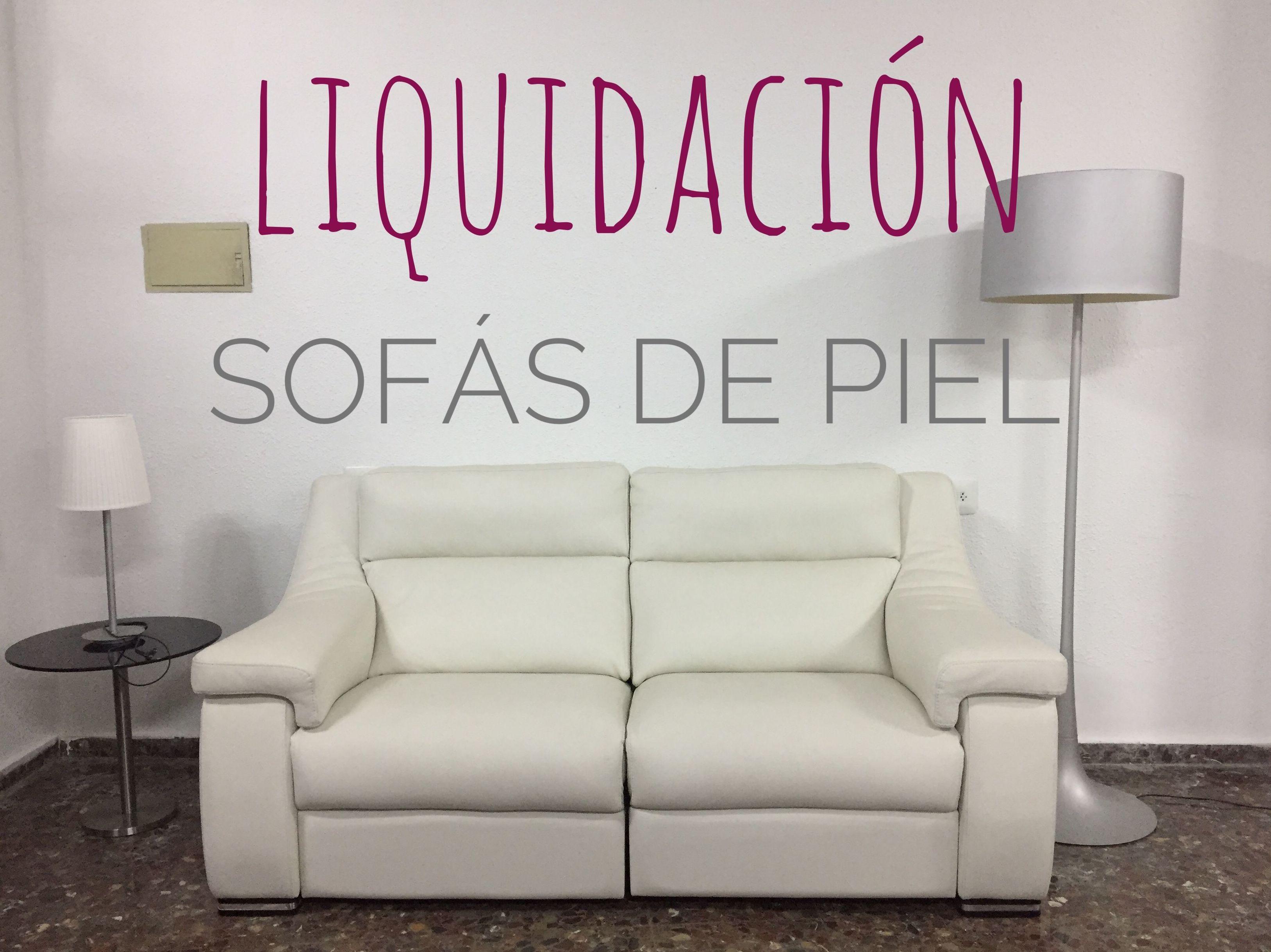 Liquidación Sofás de Piel en Muebles Sagunto
