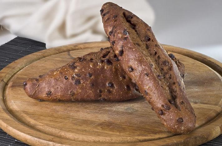 Pan de bocadillo con chocolate