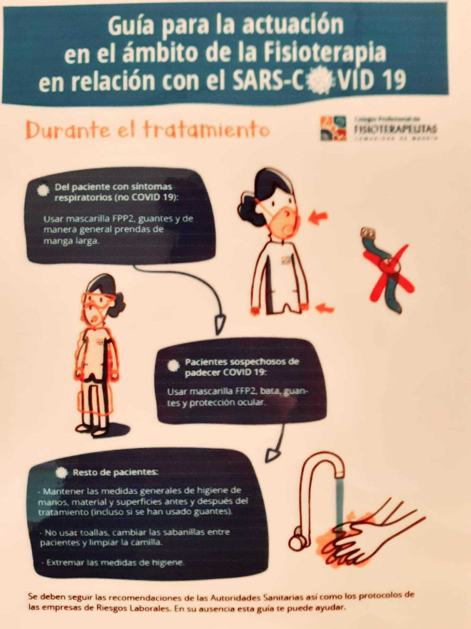 Guía de actuación en Fisioterapia en relación al covid-19