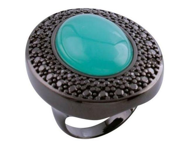 Sortija en rodio negro : Productos  de Aneis Joyería