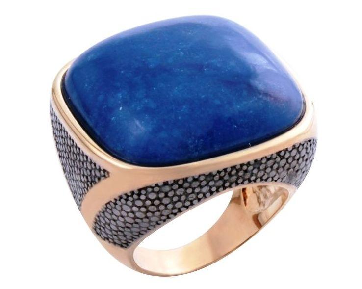 Sortija bañada en oro y rodio y cuarzo: Productos  de Aneis Joyería