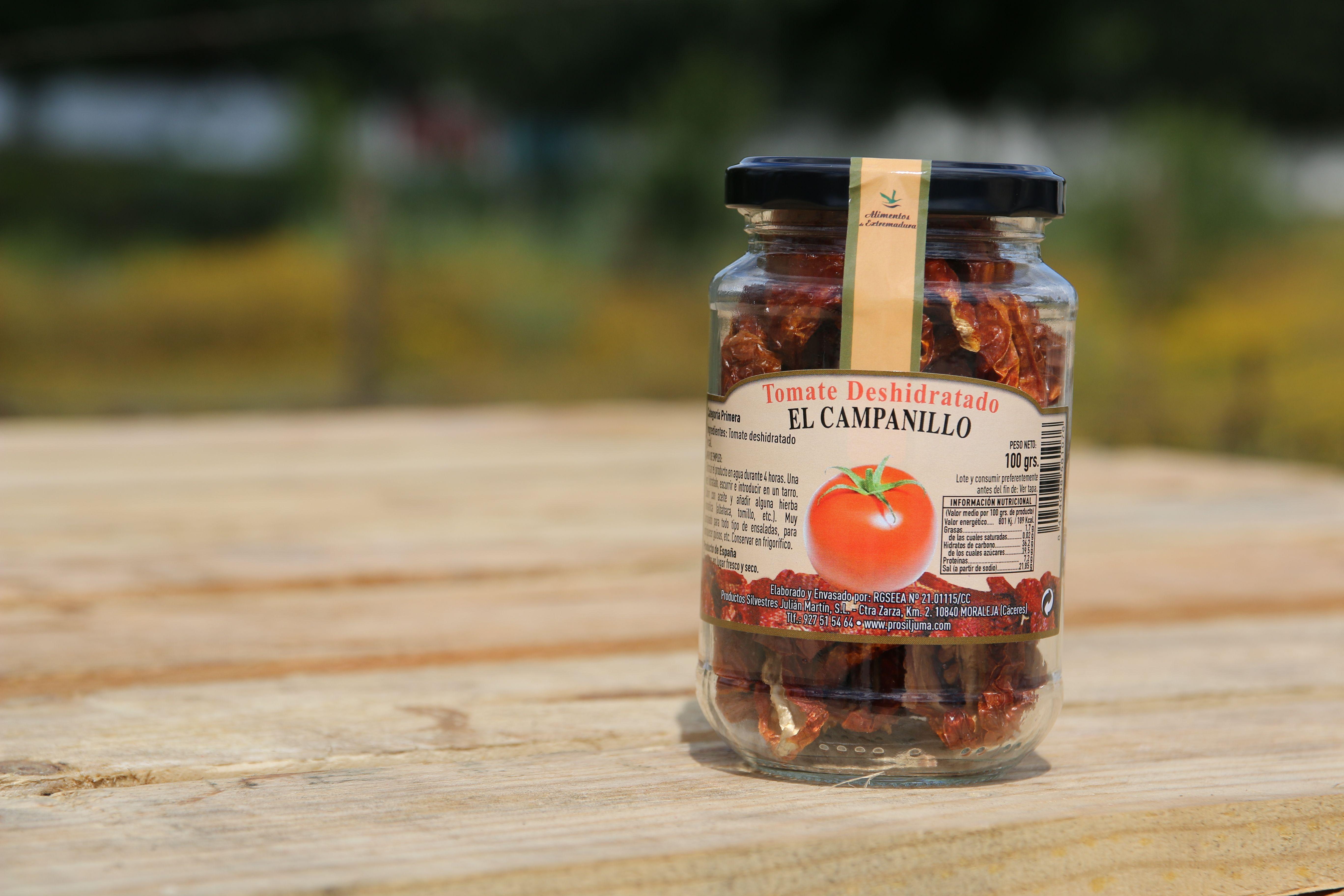 Conservas de tomate deshidratado en Cáceres