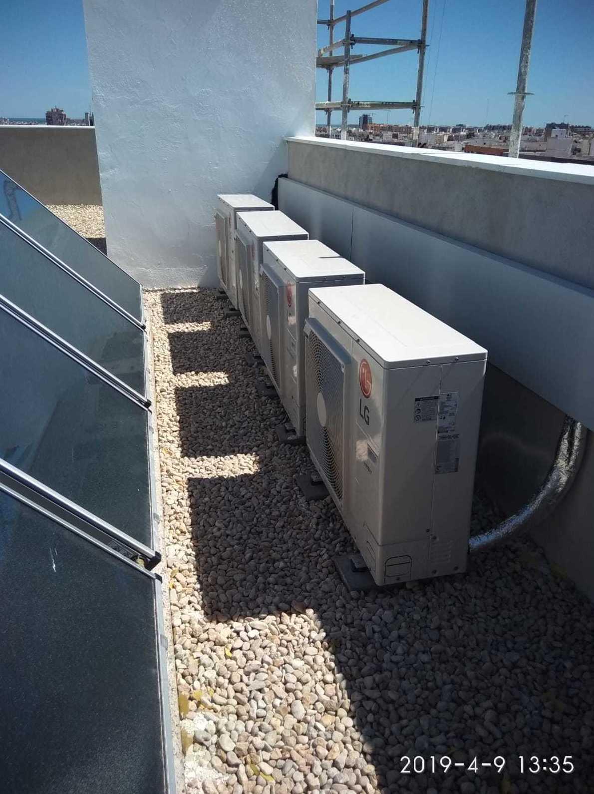 Instalación de aire acondicionado Puerto de Sagunto
