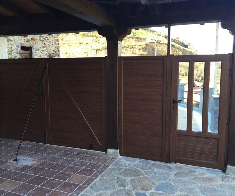 Puerta de aluminio para garaje