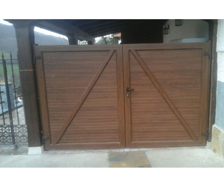 Portón de aluminio