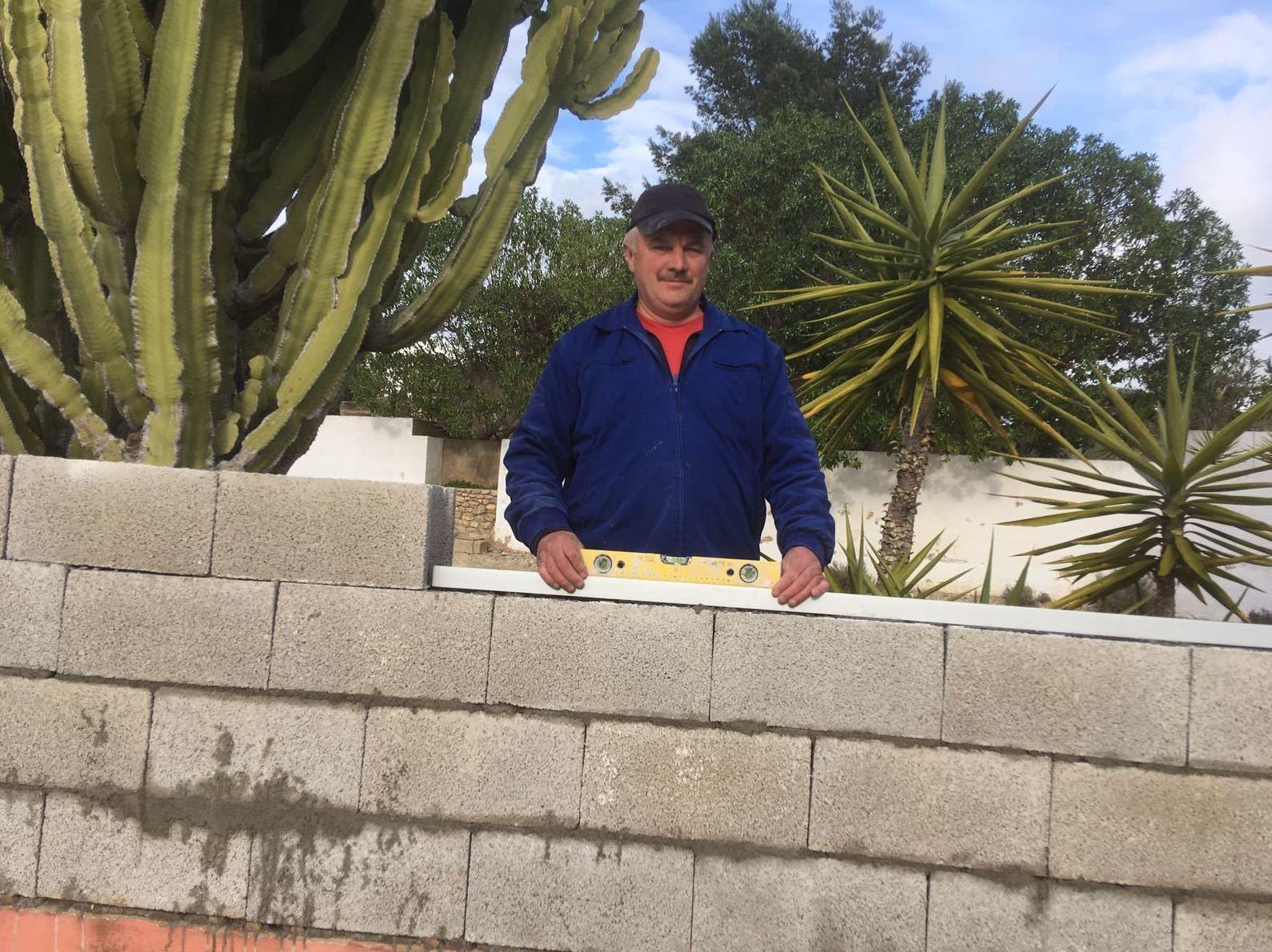 Reforma de muro exterior, Ibiza.