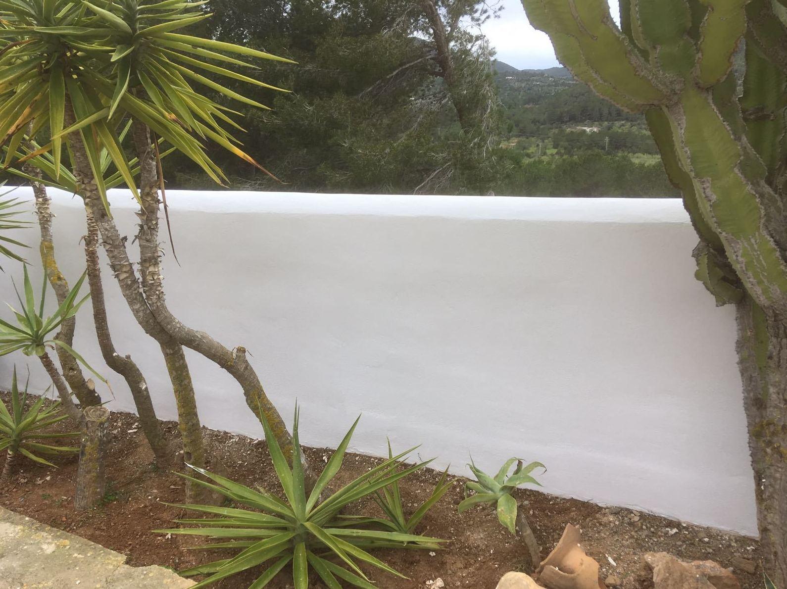 Reforma de valla exterior, Ibiza. Muro terminado