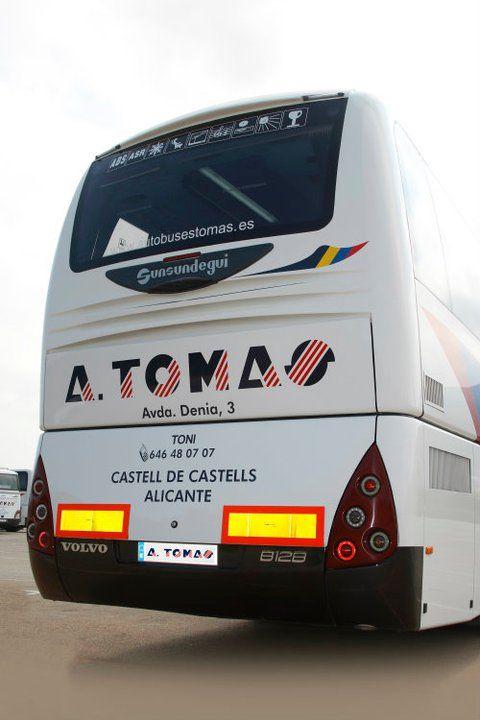Foto 7 de Autocares en Castell de Castells | Autobuses A. Tomás