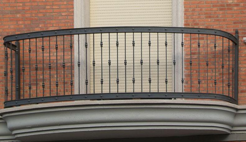 Balcones en hierro forjado