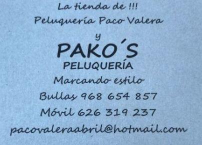 Foto 4 de Peluquerías de hombre y mujer en Bullas | Pelukería Pako's    -    La Tienda de Pako Valera