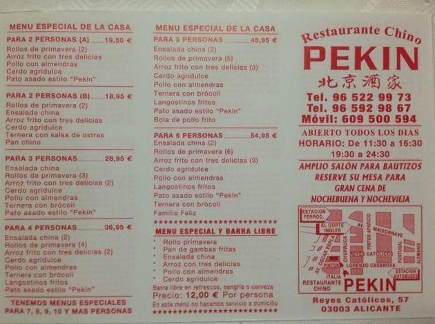 Delicias Restaurant Menu