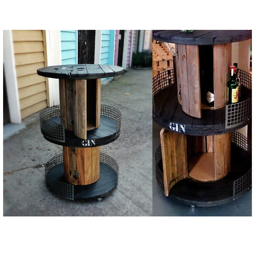PFF. 016 · Mueble bar bobina bar: Muebles de Paletto´s Furnature