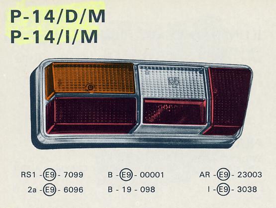 Piloto Trasero Simca 1200,1100