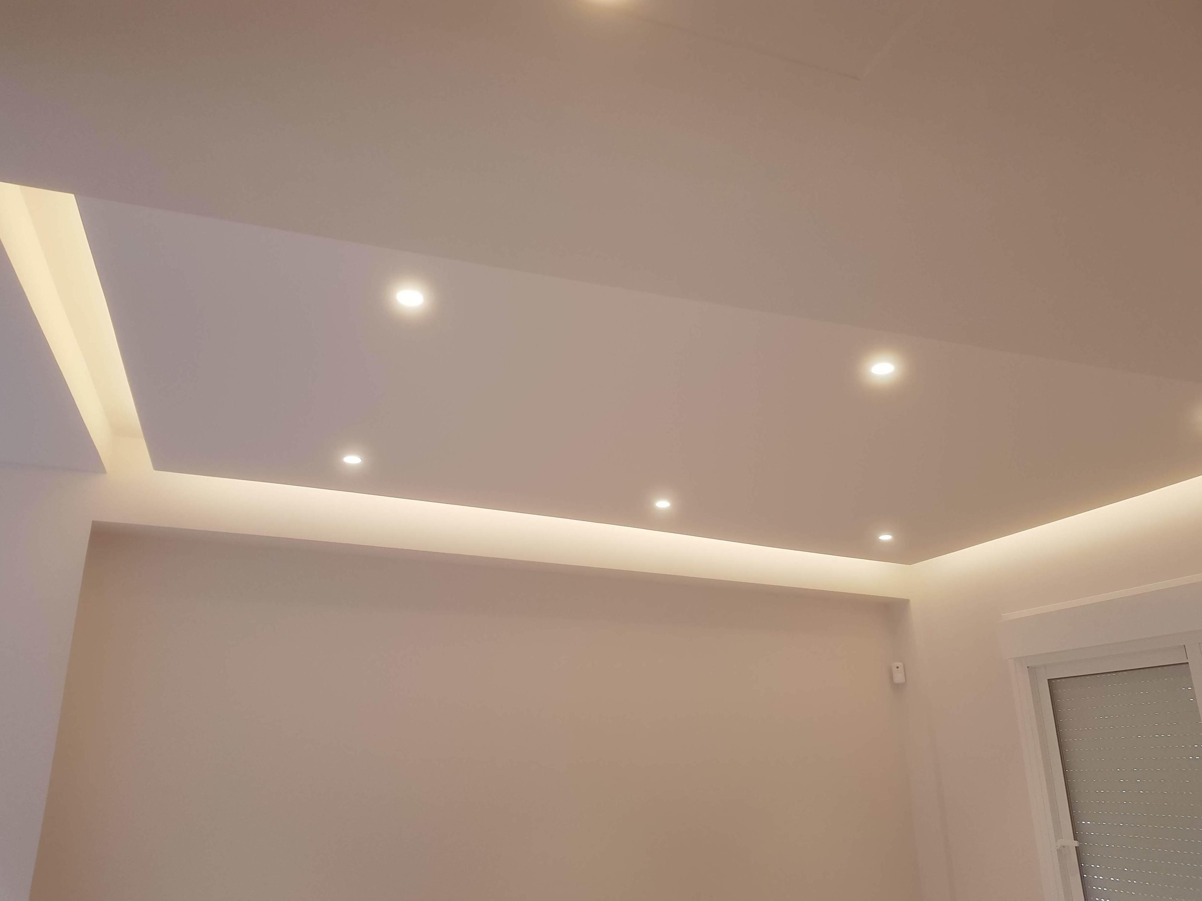 luz indirecta en falso techo