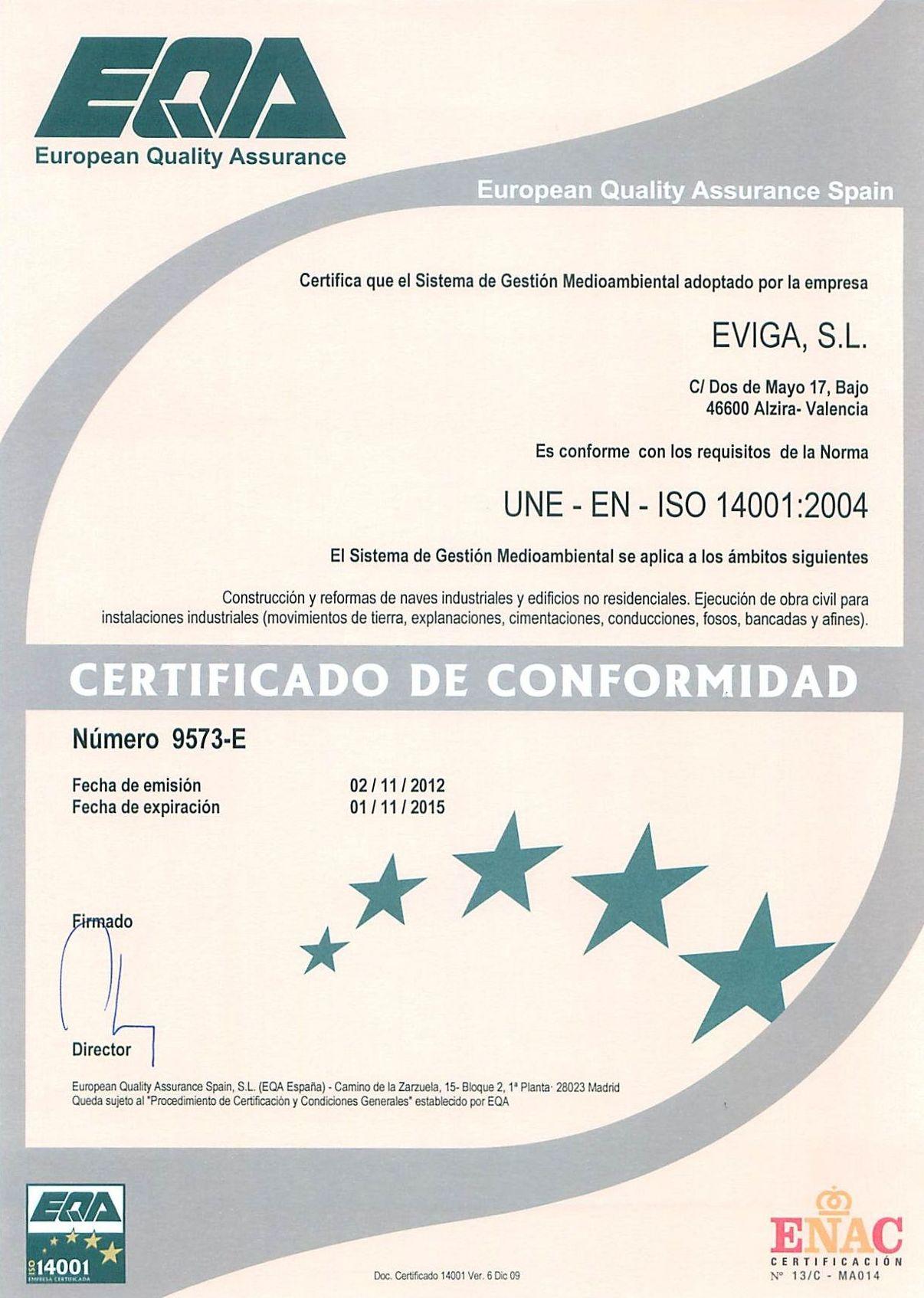 Implantación de sistemas de gestión medioambiental ( ISO 14001)