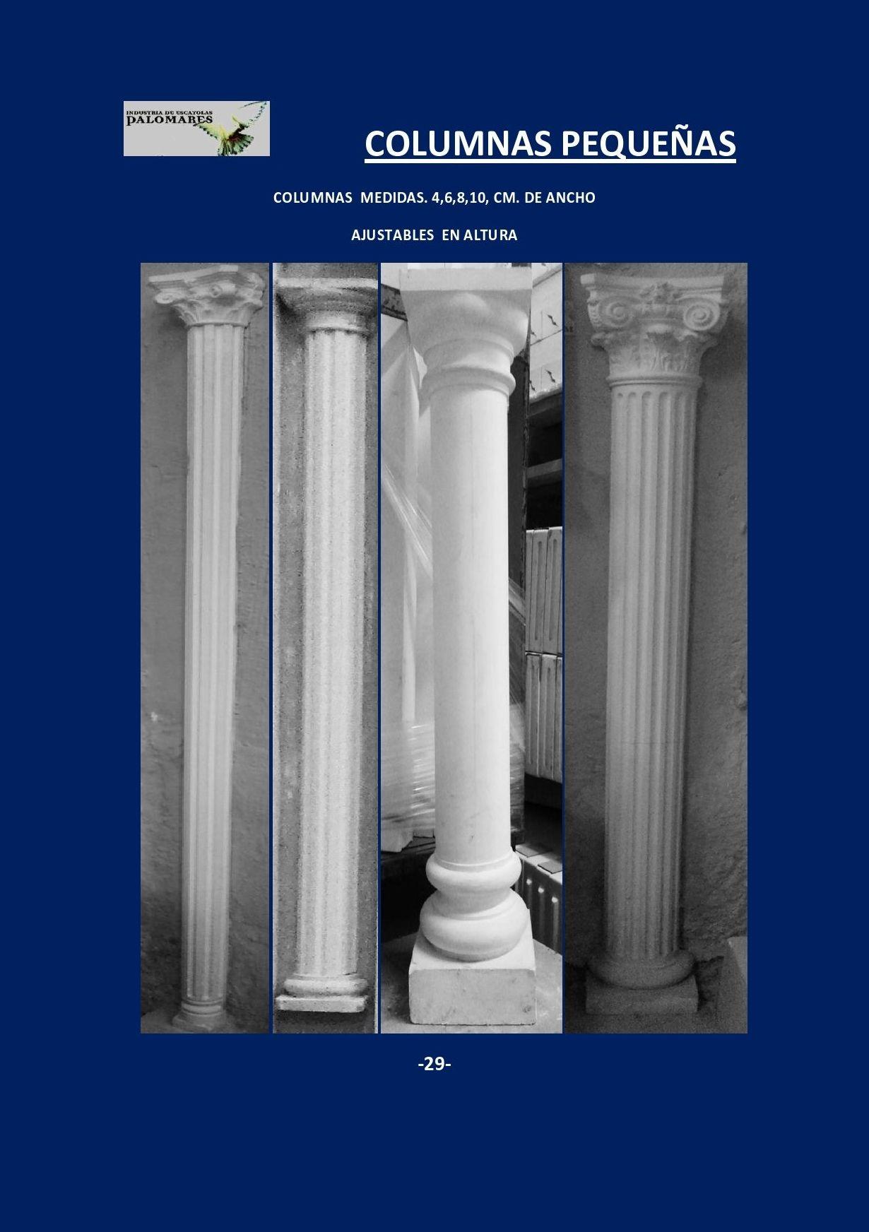 COLUMNAS . PILASTRAS . Y CAPITELES: Catálogo de I. De Escayolas Palomares