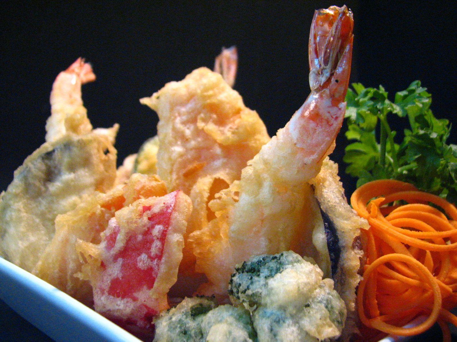 Plato de tempura