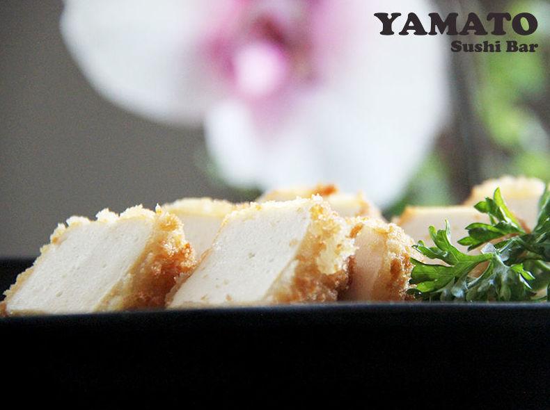 Dados de tofu y pescado