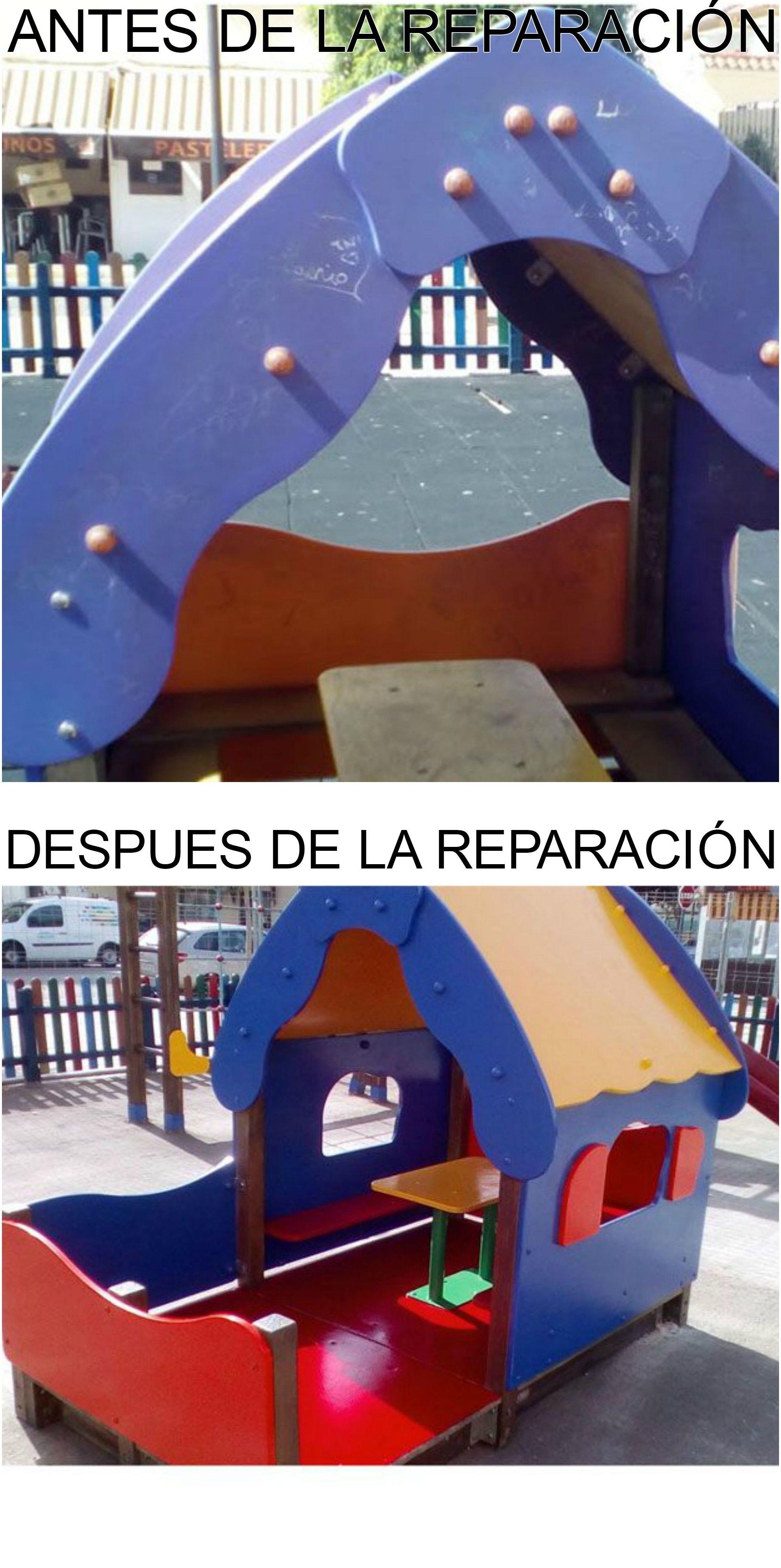 Antes y después de una reparación en Chipiona