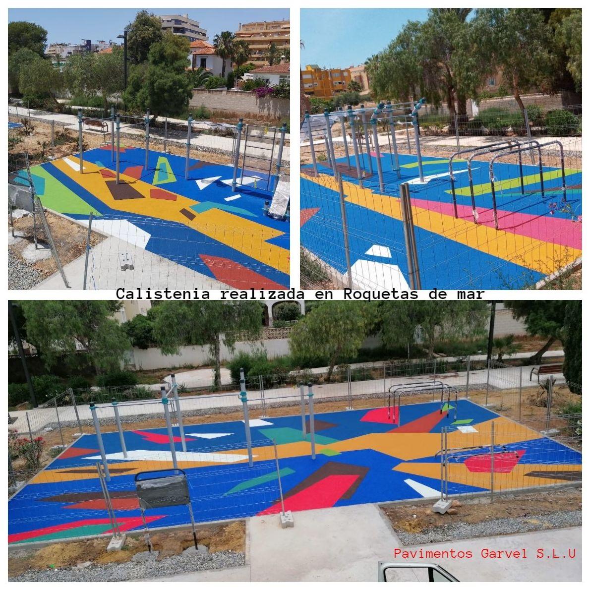 Foto 7 de Instalación de pavimentos de caucho para parques infantiles en Las Cabezas de San Juan | Pavimentos Garvel